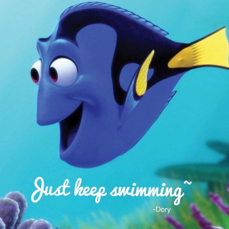 Dory Finding Nemo Just Keep Swimming Best dory quotes about weight ...